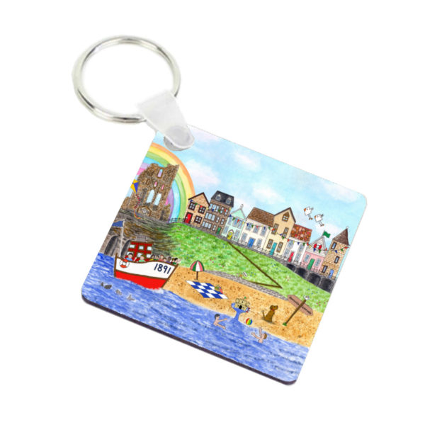 Image of keyring with Tynemouth design