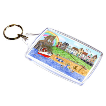 Perspex keyring with Tynemouth design.