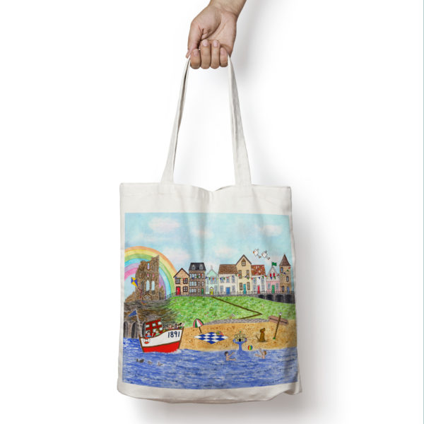 Tote bag featuring Tynemouth design.