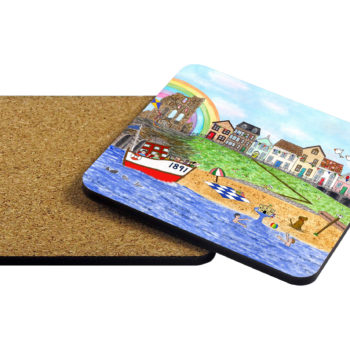 Image of corkback coaster with Tynemouth design.